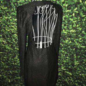 Dresses & Skirts - NWOT Black Open Back Sparkly Dress